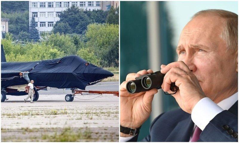 """Путину показали новейший истребитель """"Шах и мат"""""""
