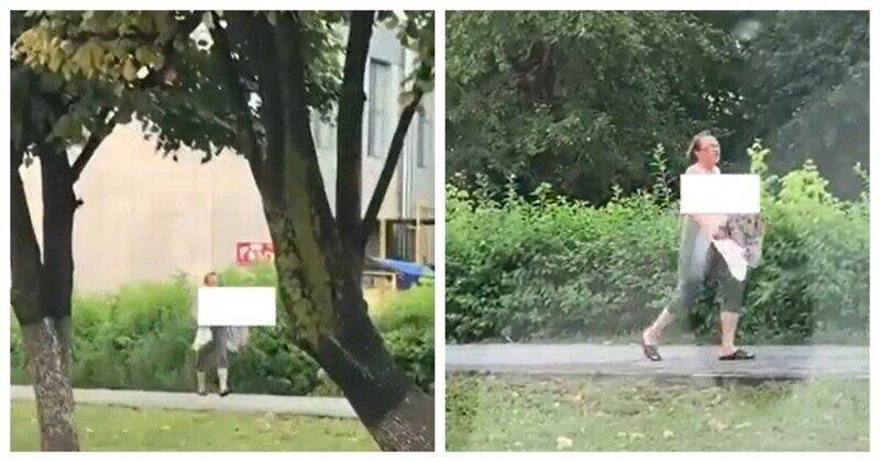 Жара: женщина прогулялась топлесс по Чебоксарам