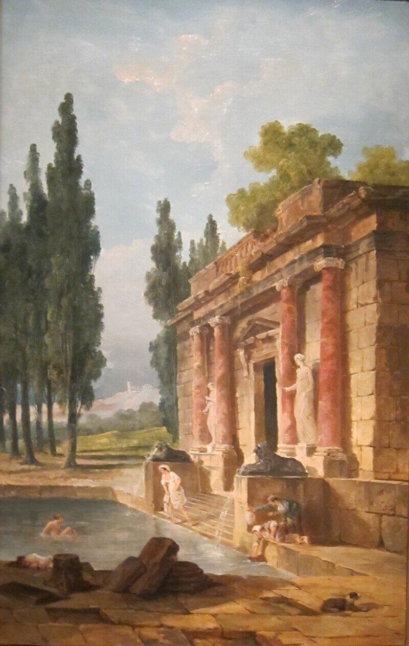 Французский художник Юбе́р Робе́р