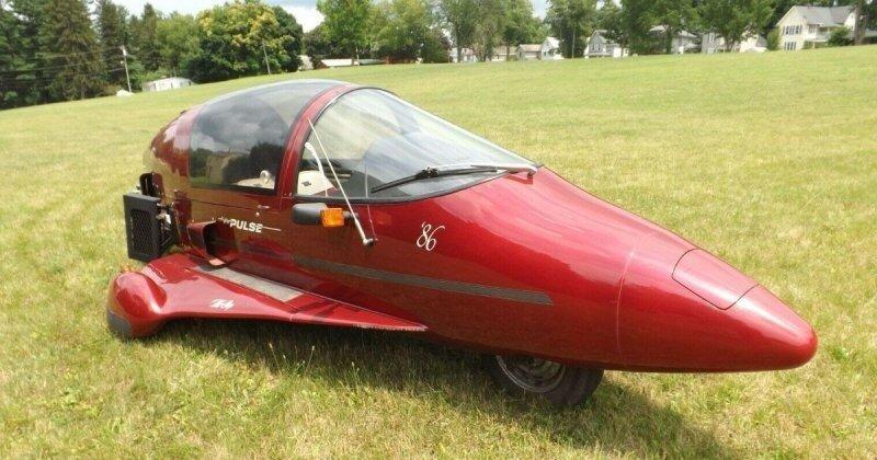 Pulse Autocycle 1986 — это мотоцикл в форме самолета