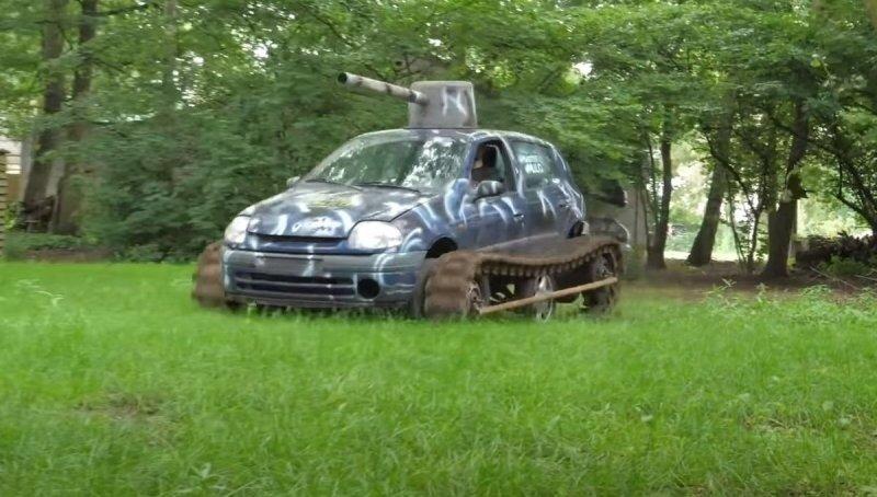 «Clio-Tank» — в Нидерландах создали танк на базе старенького Renault, но проездил он недолго