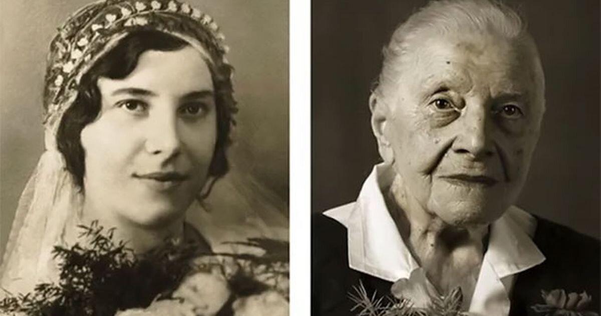 Портреты долгожителей в молодости и сейчас: проект чешского фотографа