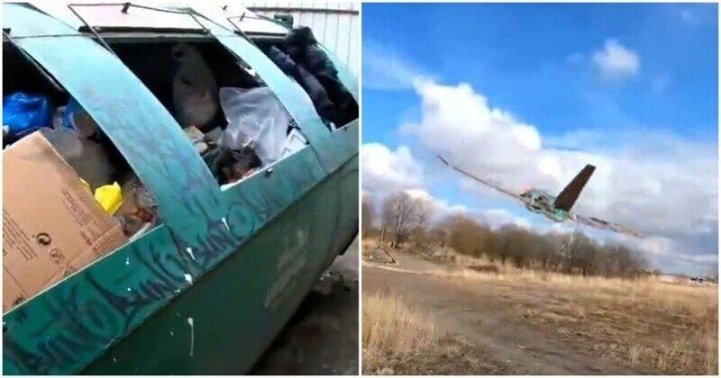 Радиоуправляемый самолет из мусора