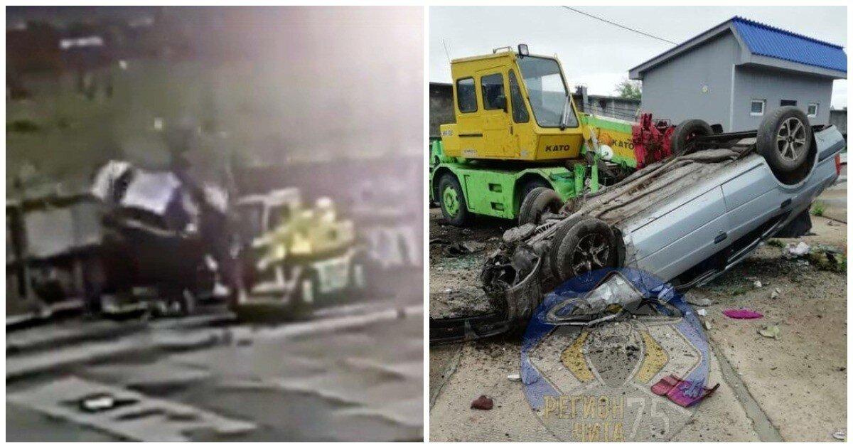 """Лихач на """"Тойоте"""" насквозь пробил бетонный забор и остался жив"""