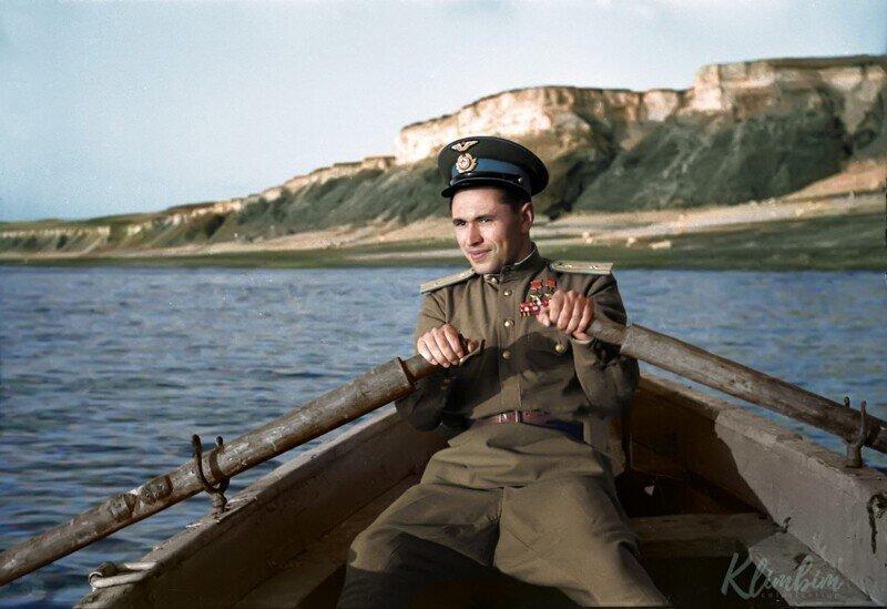 Цветные фотографии советских бойцов в Великую Отечественную Войну