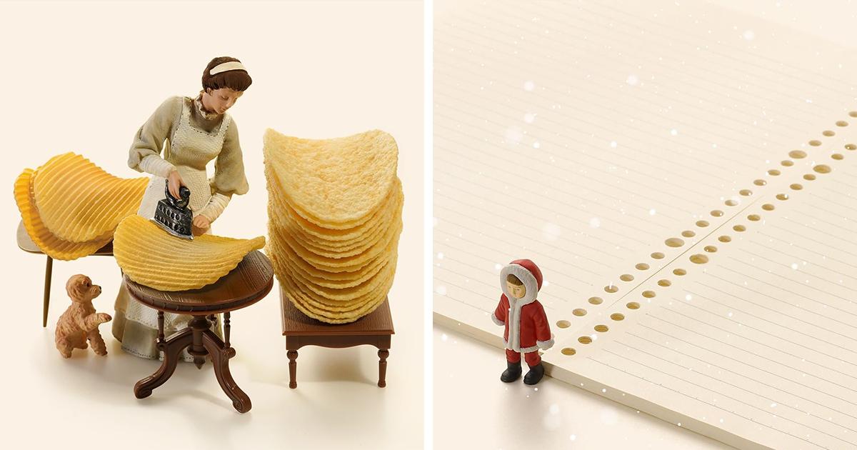Трогательные миниатюрные диорамы от японского художника