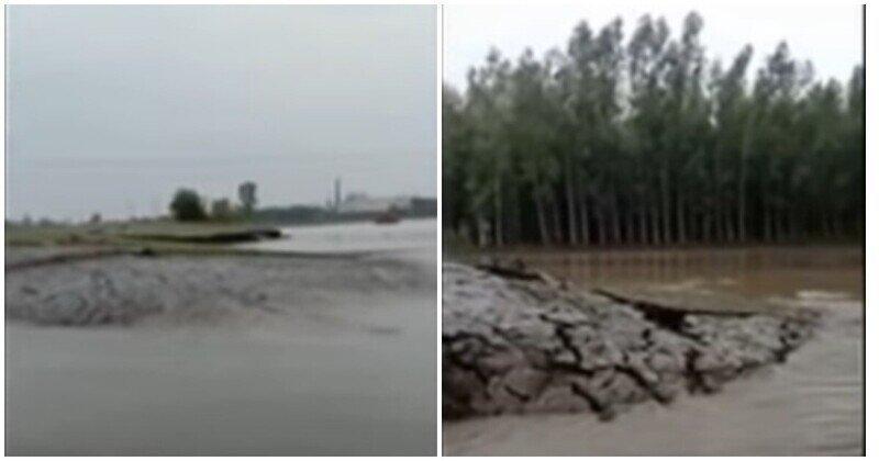 В Индии из-под воды выросла земля