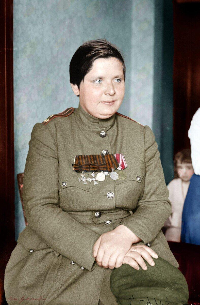 Цветные фотопортреты русских солдат и офицеров в Первую мировую войну