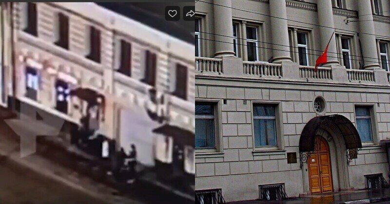 В киргизском посольстве в Москве дипломат подрался с посетителем