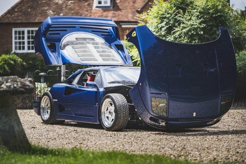 Красавица в синем цвете: уникальный Ferrari F40 1989 года