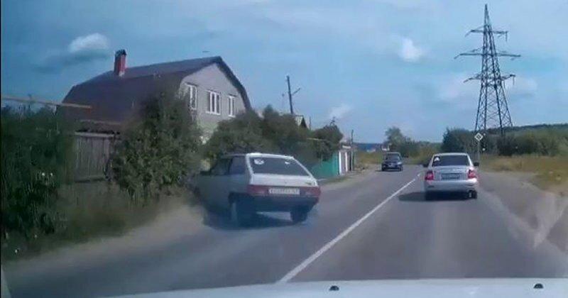 Знаменитые ВАЗовские тормоза в действии