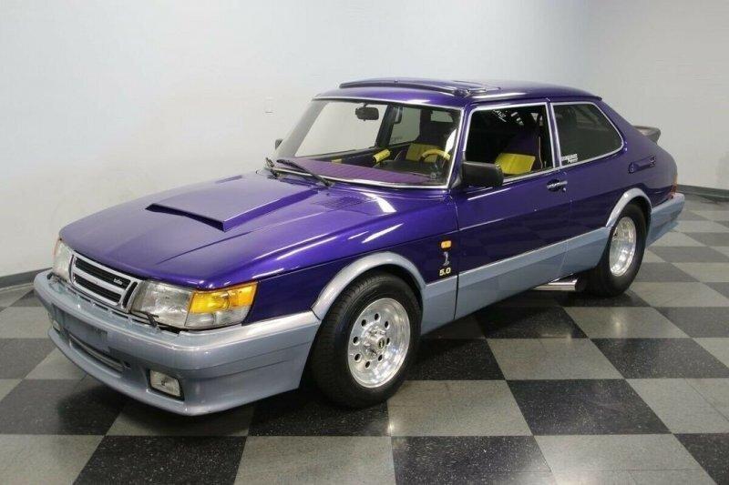 Гоночный Saab 900 с пятилитровым двигателем V8 с наддувом