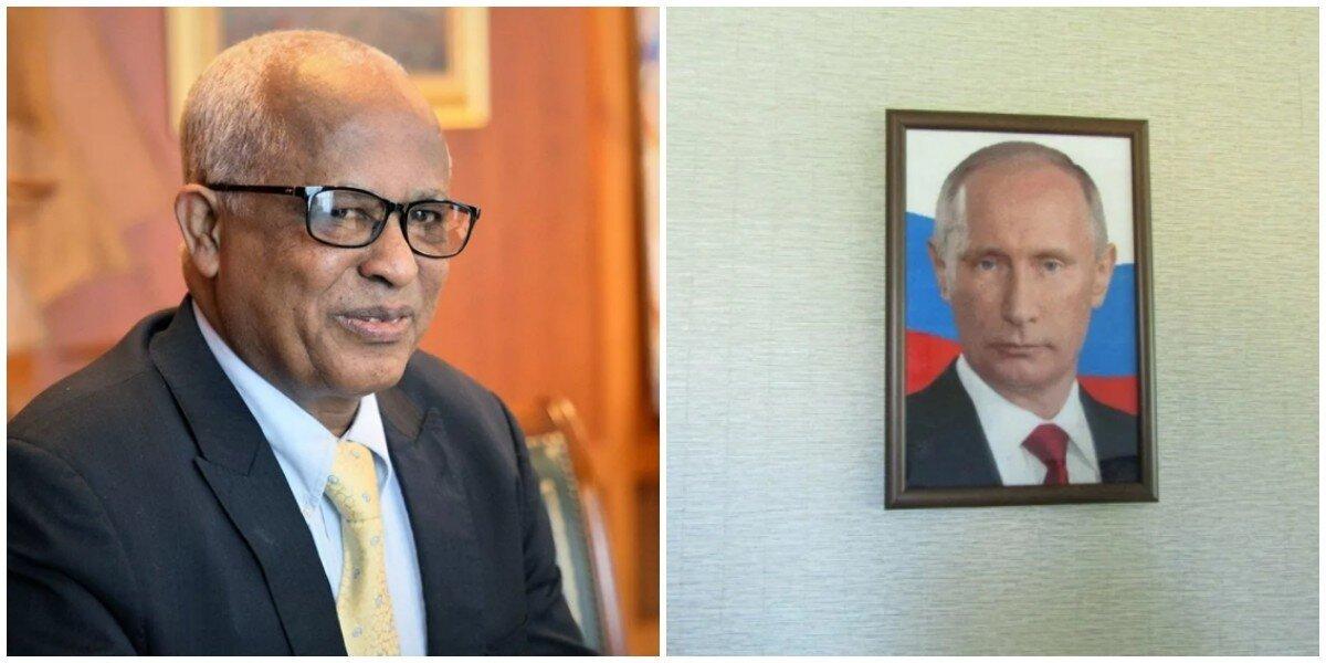 Народная любовь: эфиопы носят с собой портрет Путина