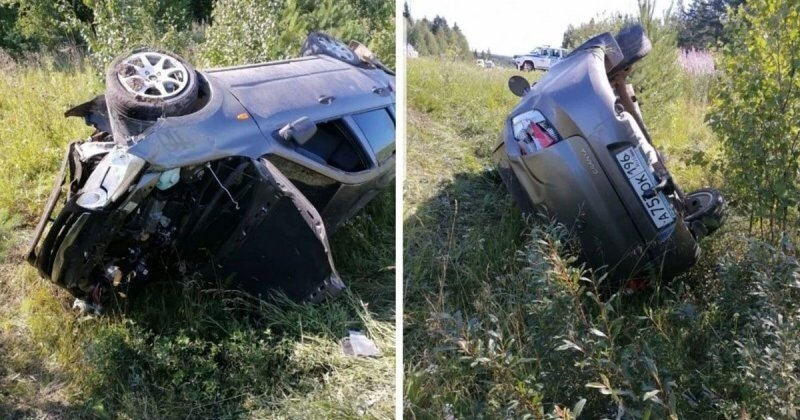 Авария дня. Машина ГИБДД спровоцировала серьезное ДТП на трассе в Свердловской области