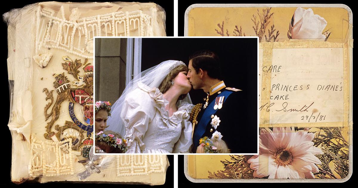 Кусок торта со свадьбы принца Чарльза и Дианы выставили на продажу