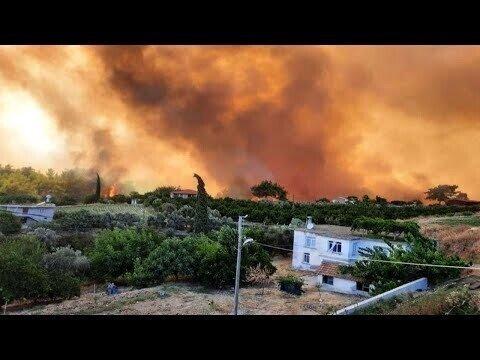 Лесной пожар в Анталье