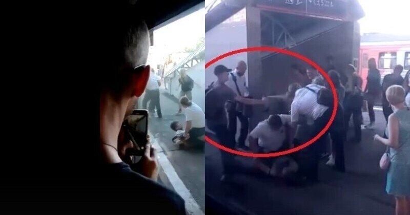 В Зеленограде безбилетники подрались с кондукторами: эпичное сражение попало на видео