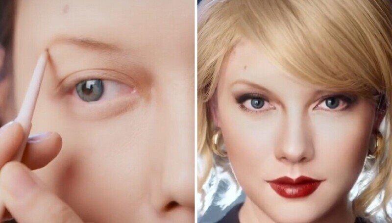Гениальный визажист превращает себя в знамениотостей - не отличишь!