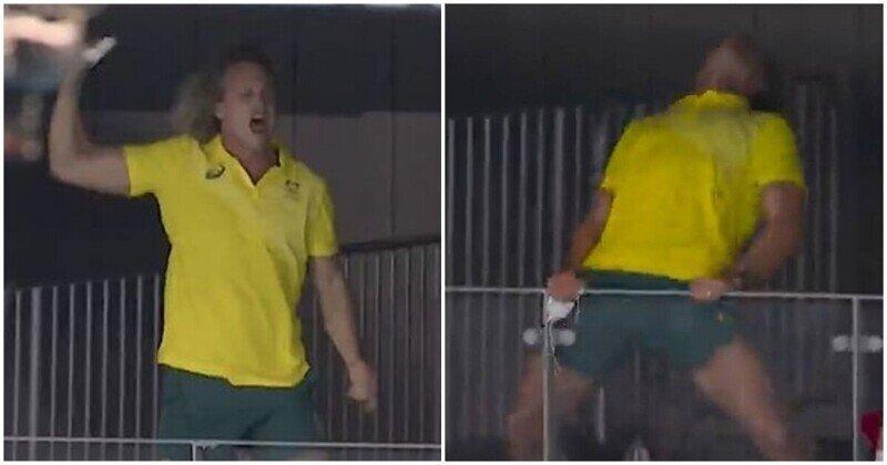 Безудержная радость австралийского тренера на Олимпиаде