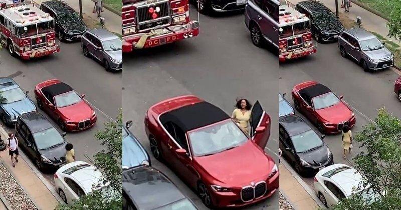 Женщина бросила свой автомобиль на дороге и отправилась за покупками: пожарная машина не смогла проехать