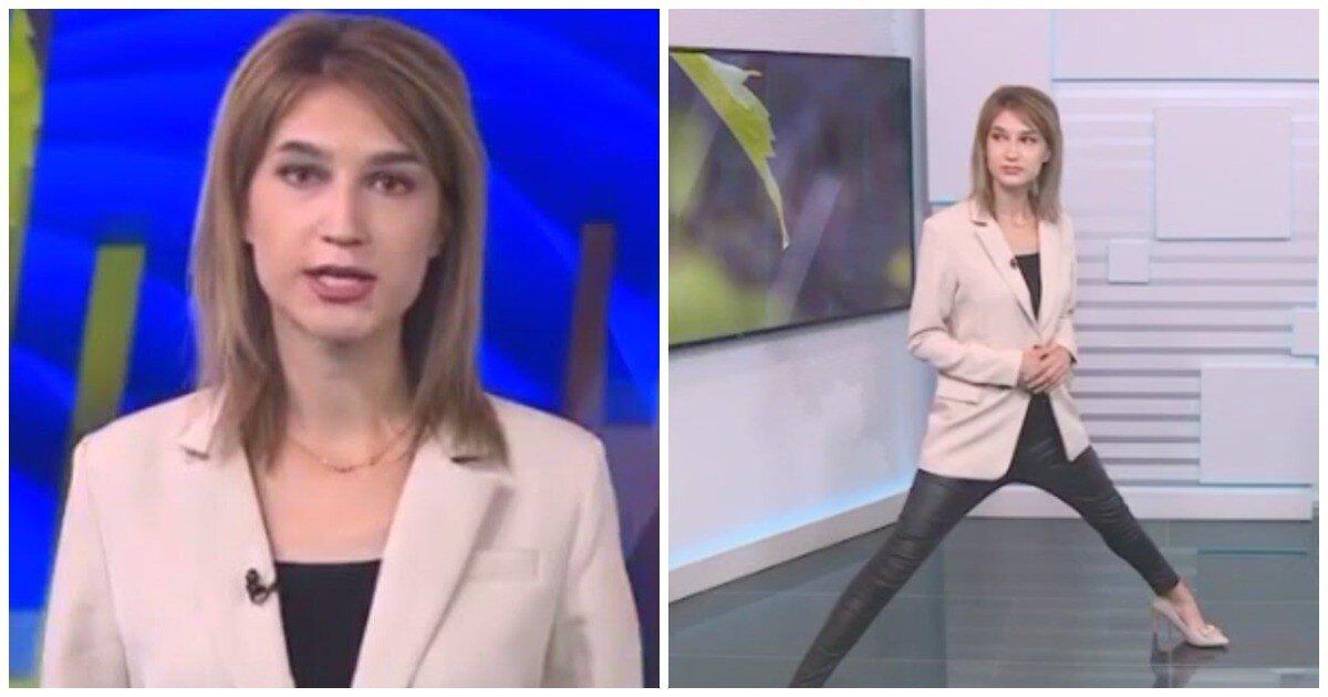 «И о погоде»: телеведущая из Уфы появилась в кадре с раздвинутыми ногами