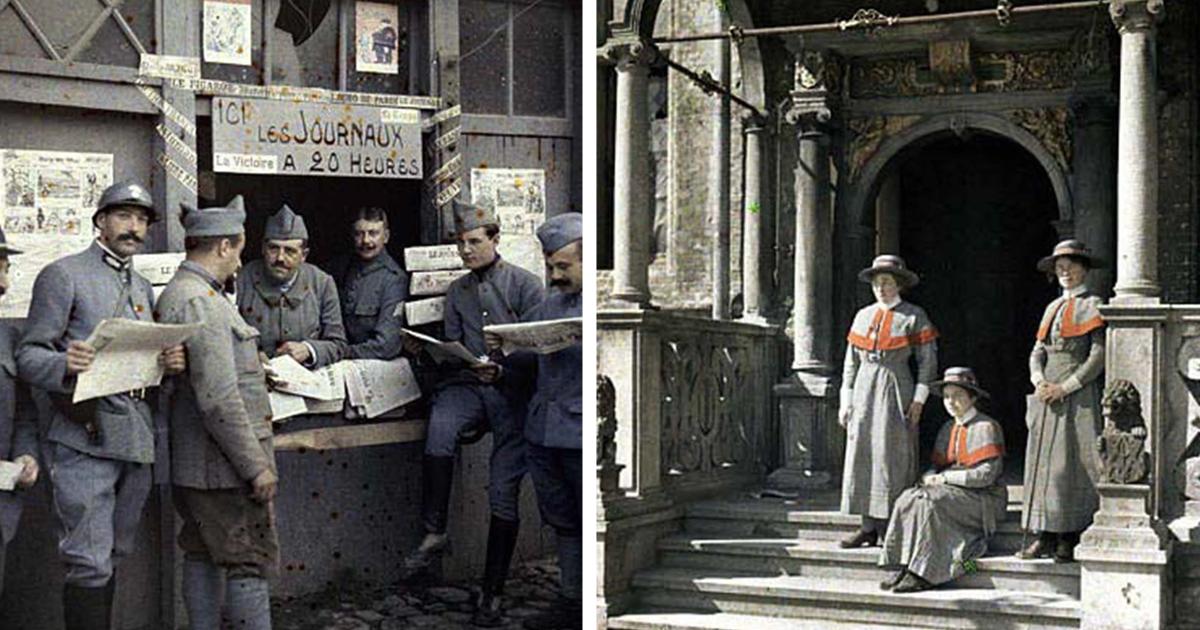 Великолепные цветные снимки французской армии во время Первой мировой войны