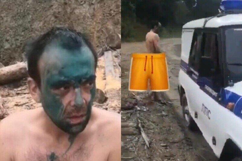 Устроили самосуд: жители Железногорска облили зеленкой таксиста, укравшего телефон и деньги