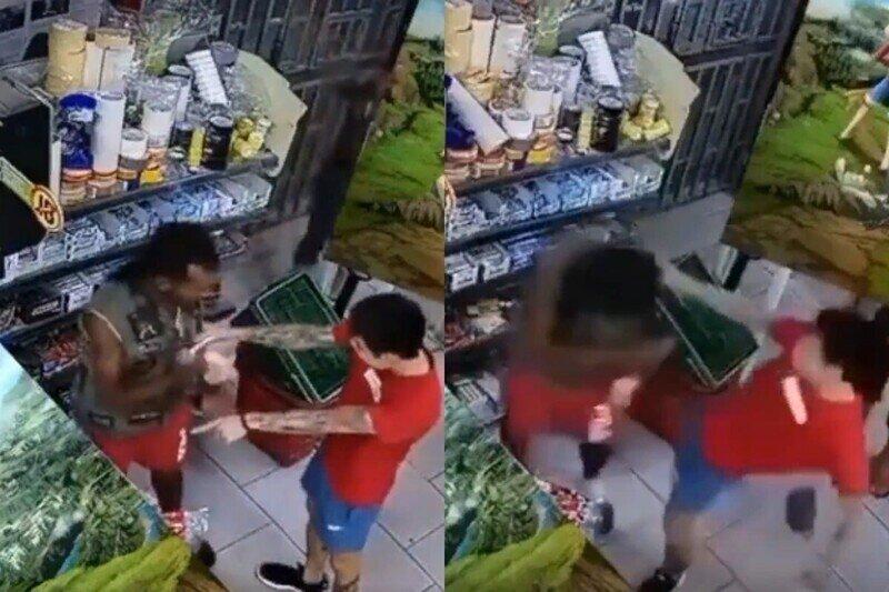 BLM по-азиатски: продавец магазина отпинал ногами чернокожего воришку, укравшего продукты