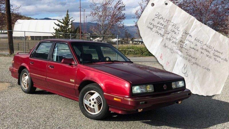 Парень только что купил Pontiac, на котором он оставил записку 14 лет назад