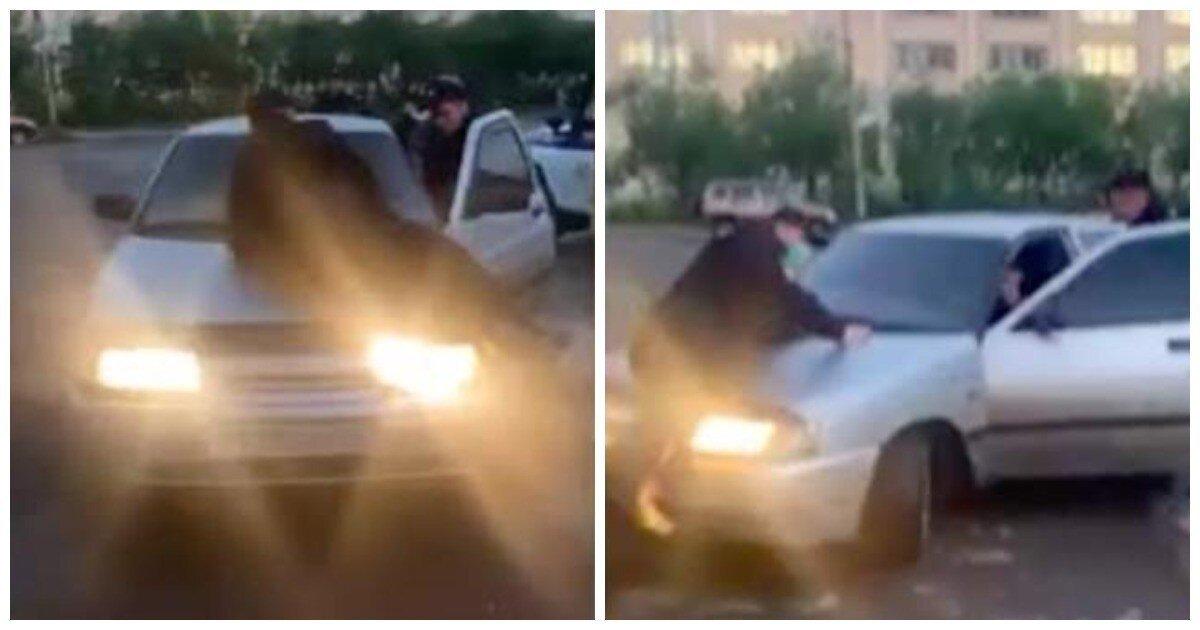 Пьяный водитель прокатил полицейского на капоте в Воркуте