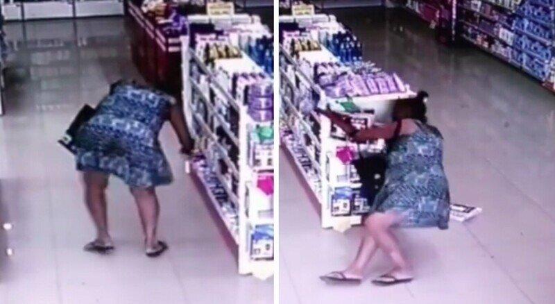 Женщина упала в обморок во время кражи из аптеки