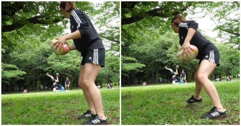 Точный и болезненный бросок мяча