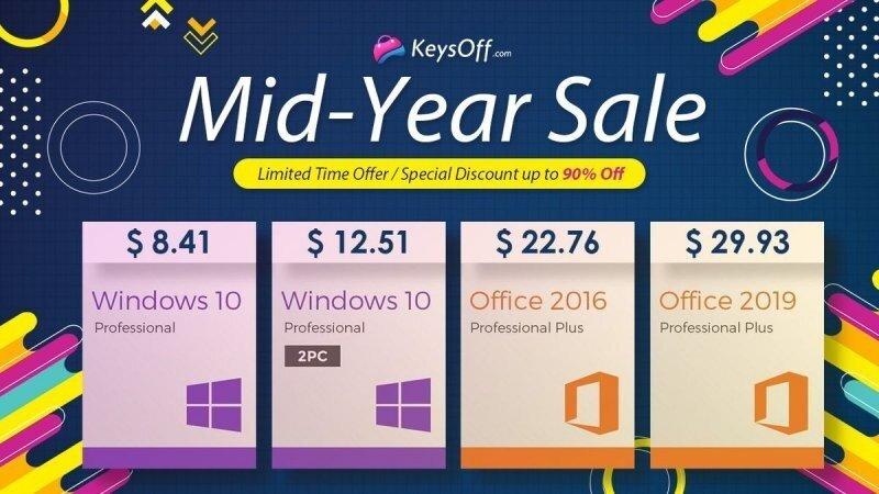 Летняя распродажа Keysoff — ключ Windows 10 Pro за $8.41