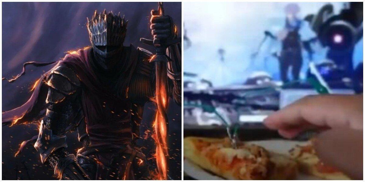 Стример сыграл в Dark Souls 3 на контроллере из пиццы