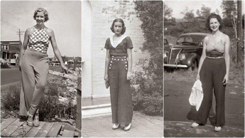 Вот как выглядели женские брюки 1930-х годов