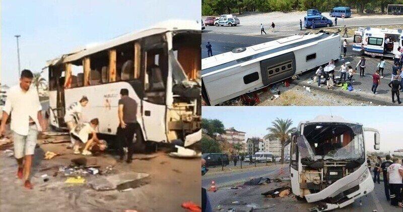 В Анталье перевернулся туристический автобус с россиянами, погибли четыре человека