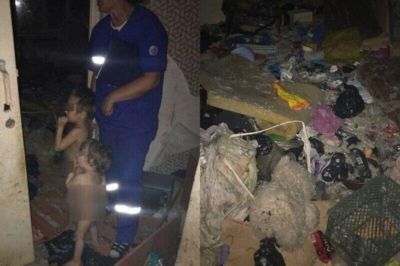 Двух голых детей-маугли обнаружили в заваленной мусором квартире в Ульяновске