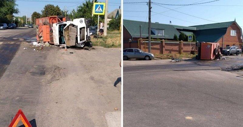 Авария дня. «Приора», мусоровоз и  велосипедист