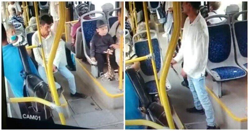 Мужчина неожиданно напал с ножом на пенсионера в автобусе