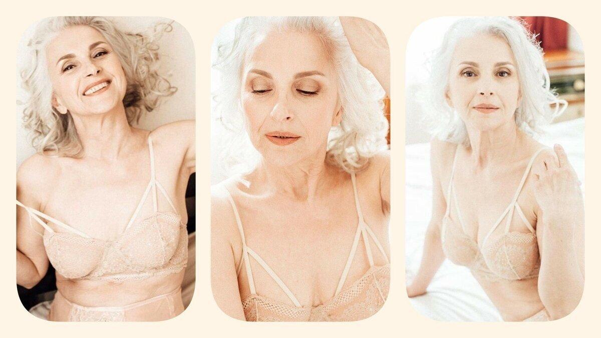 Playboy впервые опубликовал фото 61-летней модели в белье