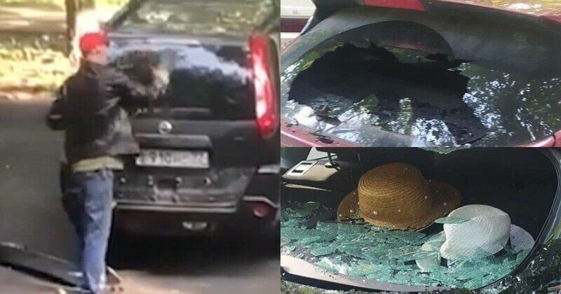В Тушине мужчина разбил восемь машин, когда искал спрятанную в багажнике девушку