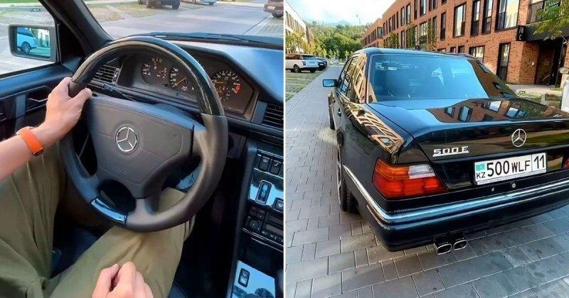 Минутка прекрасного для автолюбителей: идеально отреставрированный Mercedes-Benz 500E