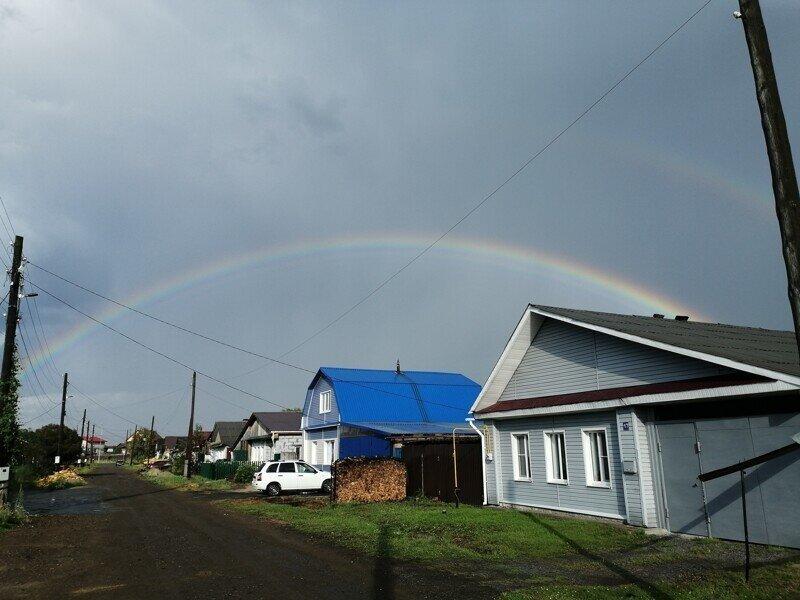 Радуга после дождя!