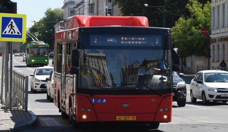 В рейсовом автобусе Казани заметили красавицу в сфере из арбуза на голове