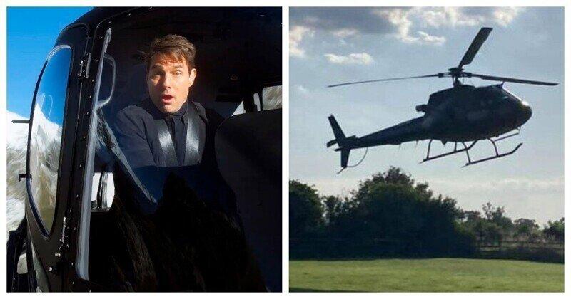 Том Круз удивил английскую семью, посадив на их лужайке вертолёт