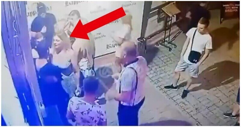 Охранник ночного клуба отправил девушку в нокаут за пощечину