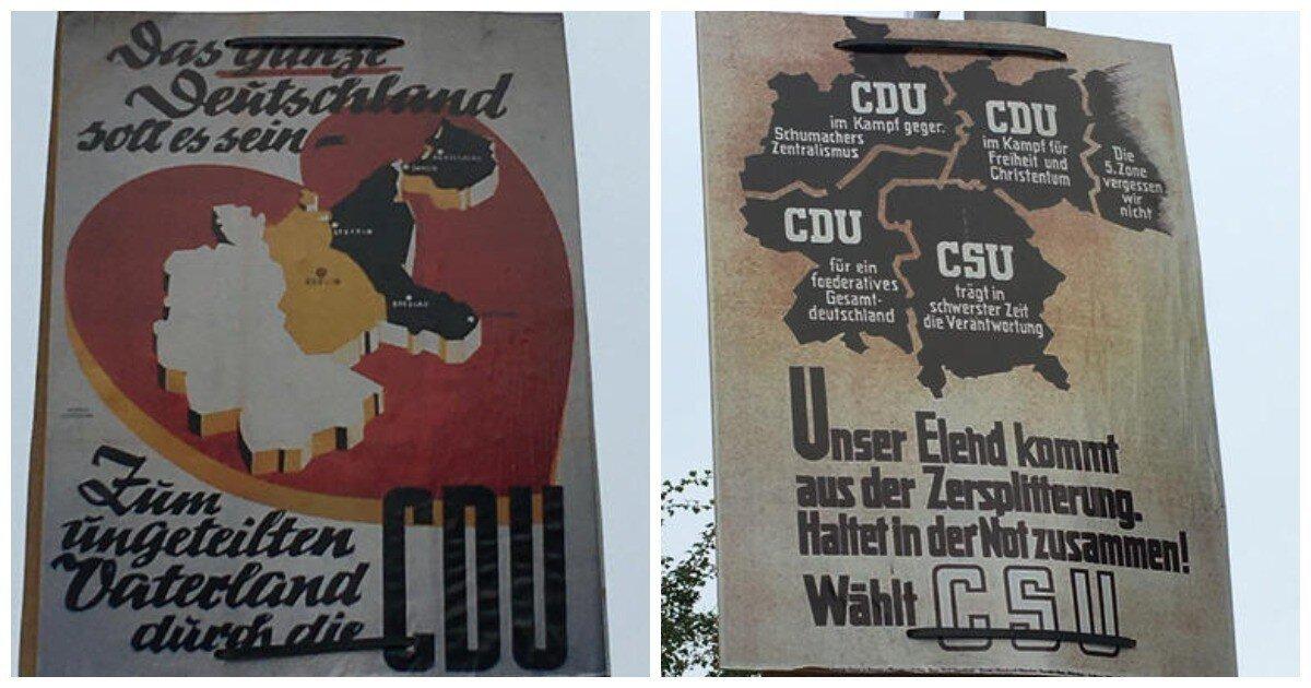 В Германии вывесили плакаты с Калининградской областью в составе страны