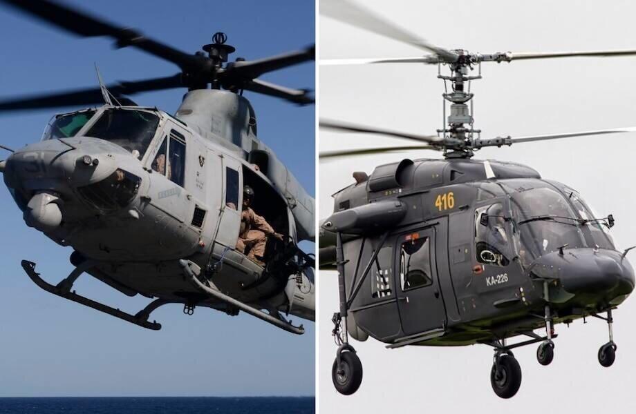 Почему на наших вертолетах стоят колесные шасси, а на американских — железные полозья