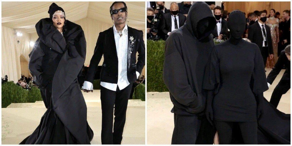 Рианна в куртке и Ким Кардашьян без лица: самые яркие образы Met Gala 2021