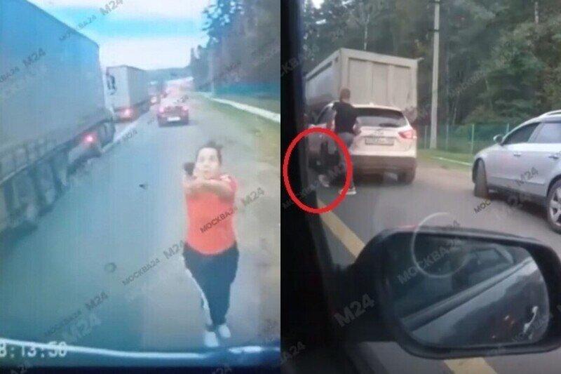 Семейная пара с топором и пистолетом набросилась на водителя грузовика, не пропустившего их авто